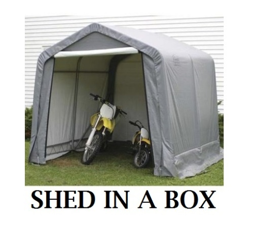 Shed in a Box by Shelterlogic Review | Portable Garages ...